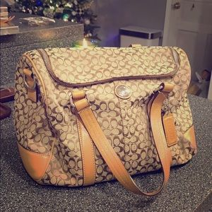 Coach mini duffle luggage/purse